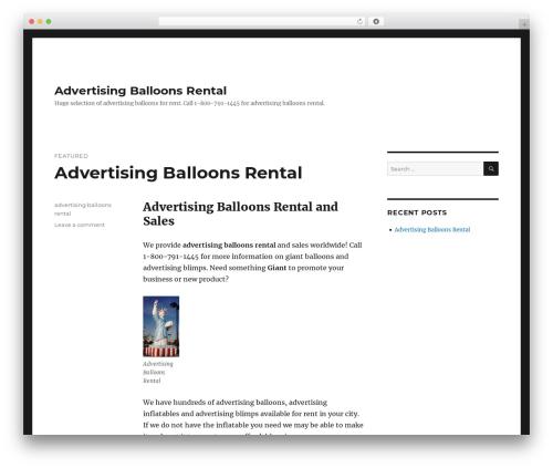 Best WordPress theme Twenty Sixteen - advertisingballoonsrental.com
