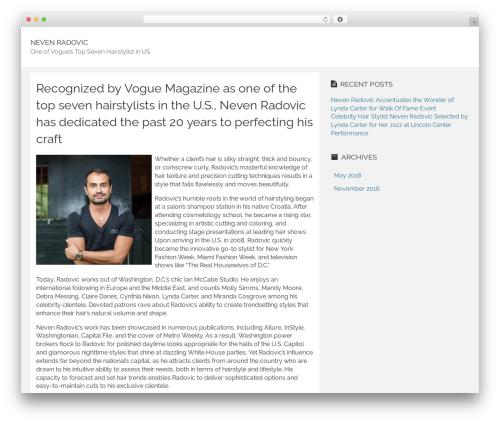 Rational Start newspaper WordPress theme - nevenradovicnews.com