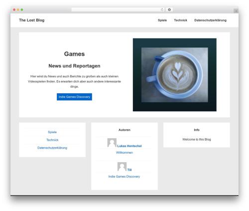 Responsive WordPress magazine theme - the-lost-world-of-gaming.com