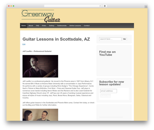 Responsive WordPress theme - jefflauffer.com