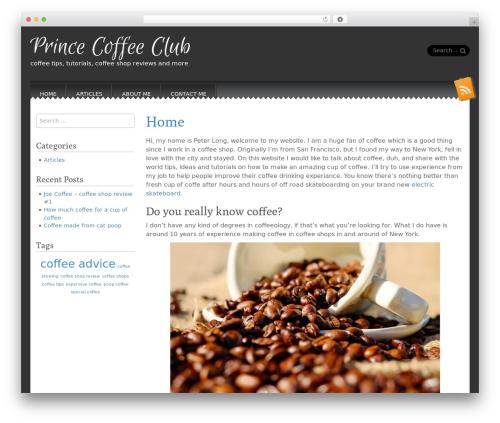 Snowblind free WP theme - prince-coffee-club.com