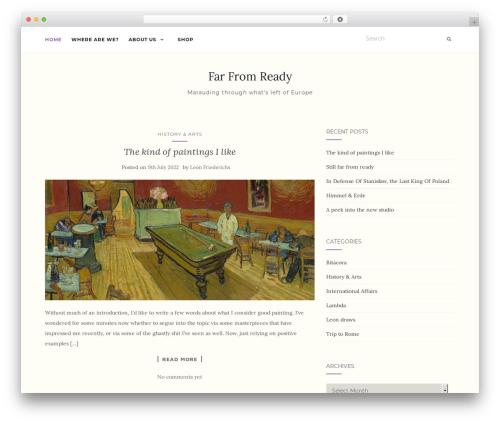 Template WordPress Activello - farfromready.com