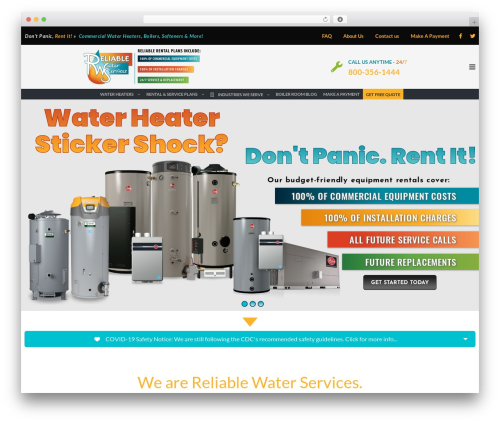 TheBuilt WordPress theme - reliablewater247.com