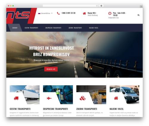 WordPress theme TM Transport - nts-transports.com