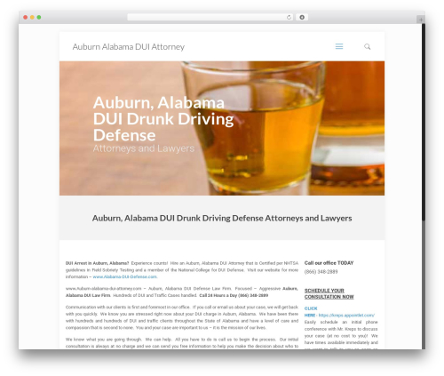 WordPress website template Betheme - auburn-alabama-dui-attorney.com