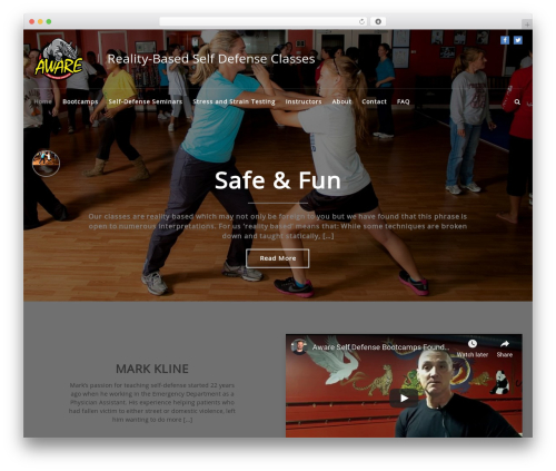 WordPress website template FitClub Pro - awaredefensebootcamps.com