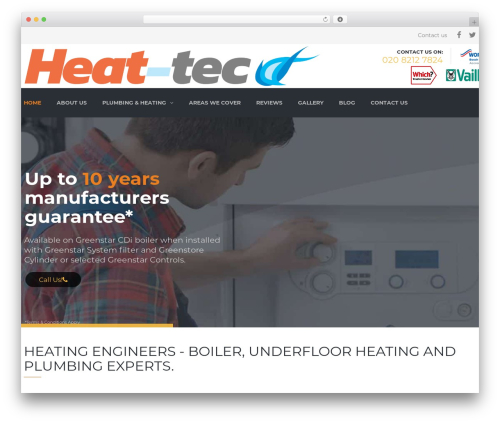 Best WordPress template Heat Tec Theme - heat-tec.com
