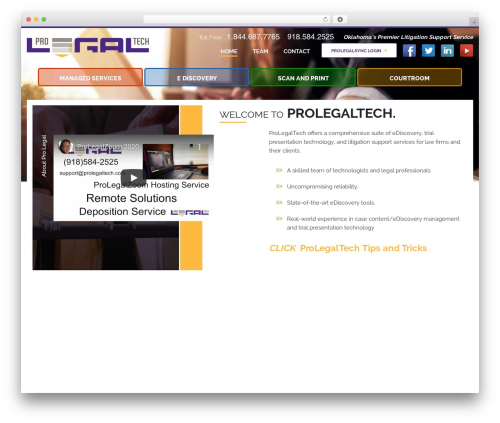 Best WordPress template Pro Legal Tech - prolegaltech.com