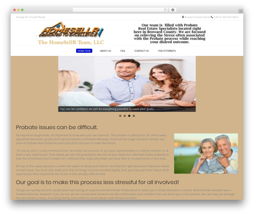 Conica WordPress theme - browardprobaterealestate.com