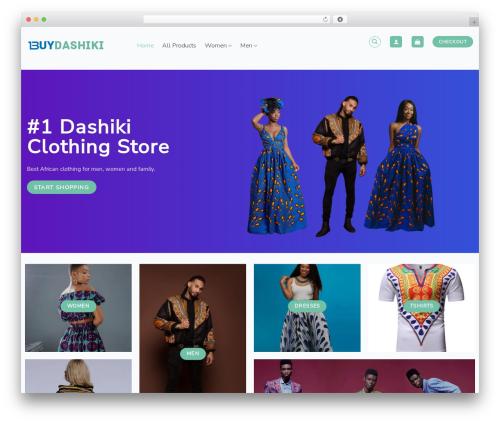 Flatsome WordPress shopping theme - buydashiki.com