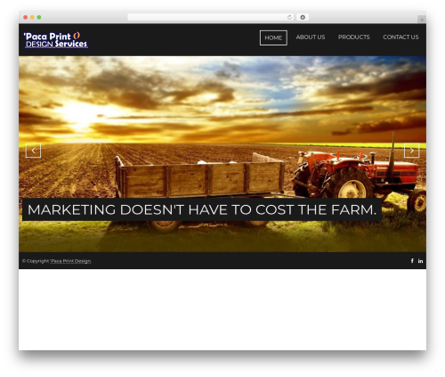 Focal WordPress theme - pacaprintdesign.com