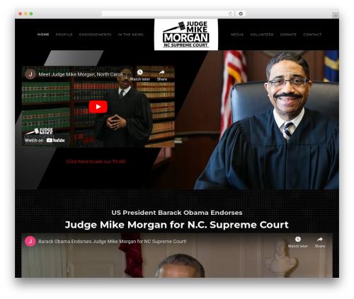 Politist theme WordPress - judgemikemorgan.com