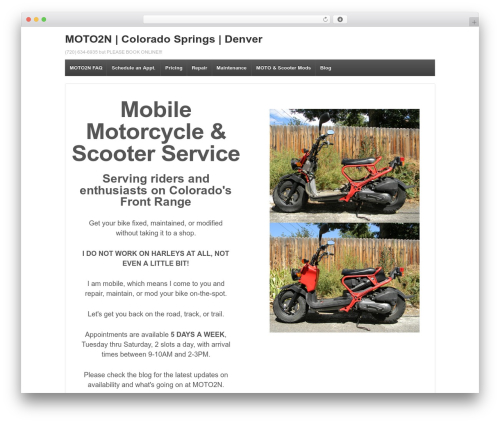 Responsive free WP theme - moto2n.com