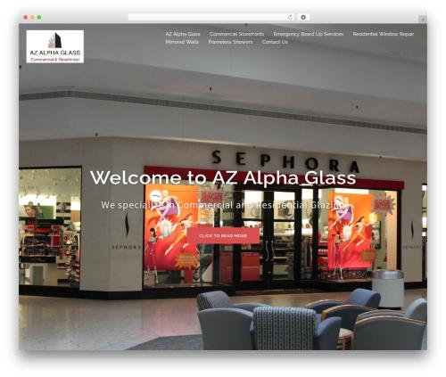 Sydney free WordPress theme - azalphaglass.com