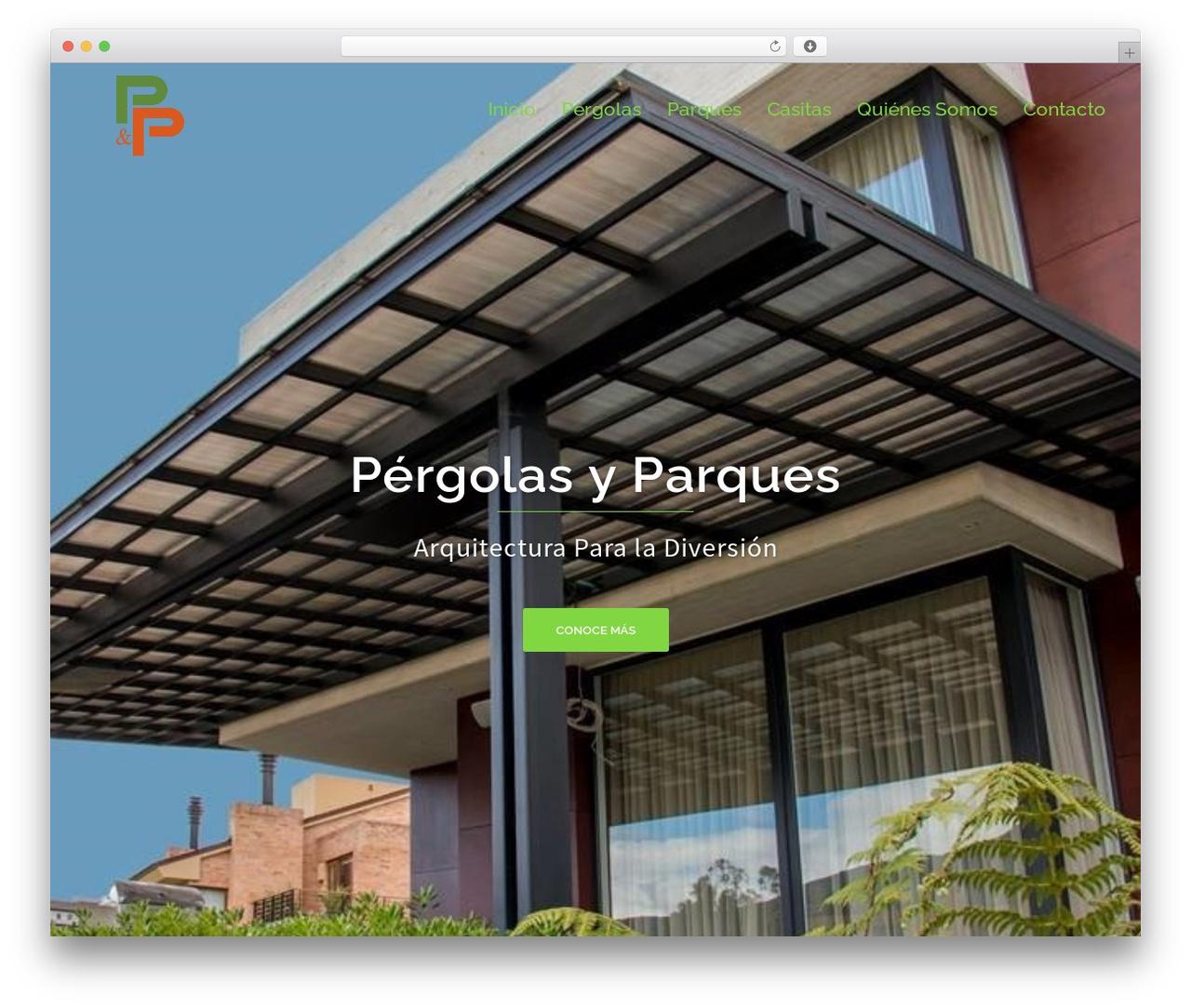 Sydney WordPress template - pergolasyparques.com