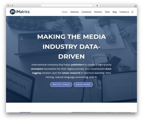 Theme WordPress Divi - imatrics.com