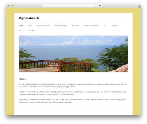 Twenty Twelve best free WordPress theme - kigomabeach.com