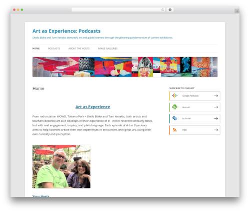 Twenty Twelve premium WordPress theme - art-as-experience.com
