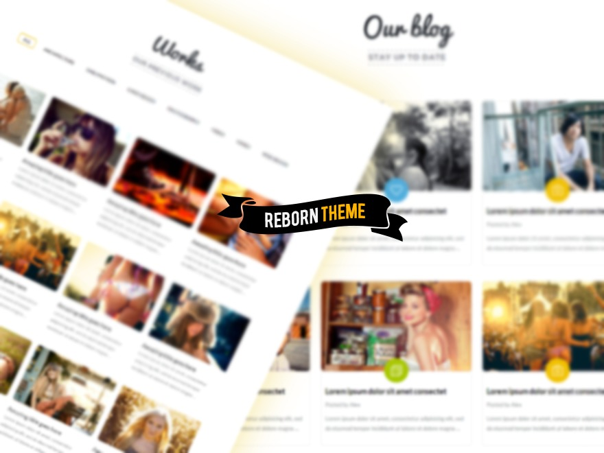WordPress theme Reborn Retro Child Theme
