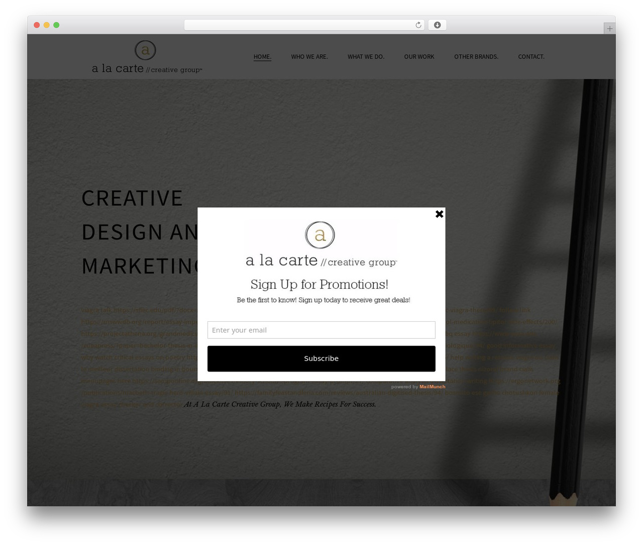 Beau WordPress theme - alacartecreativegroup.com