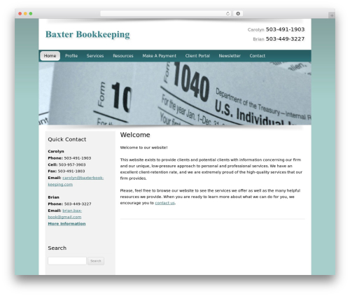 Customized WordPress template for business - baxterbookkeeping.com
