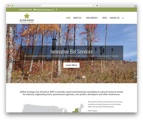 Divi business WordPress theme - allstarecology.com