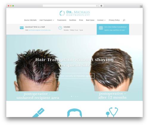Divi theme WordPress - hairtransplant-drmichalis.com
