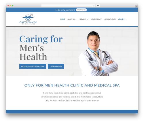 Divi WordPress theme - onlyformenmedicalclinic.com
