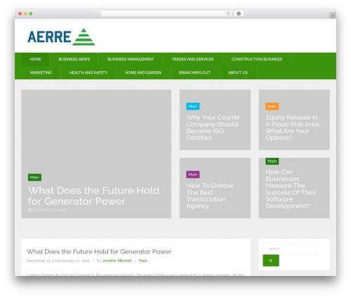 News Reader free WordPress theme - aerre17.com