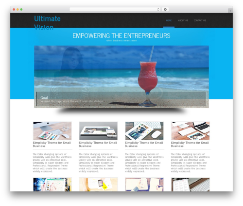 Simplicity Lite free WP theme - ultimate-vision.com
