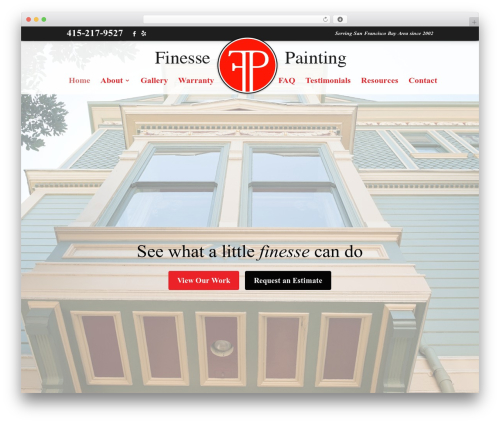Theme WordPress Divi - finessepaintinginc.com