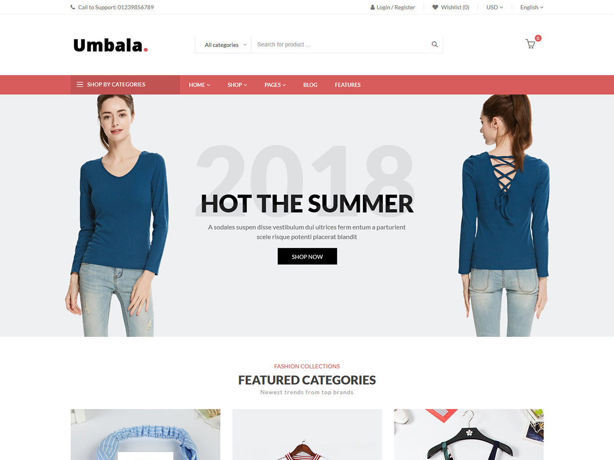 Umbala WordPress shopping theme