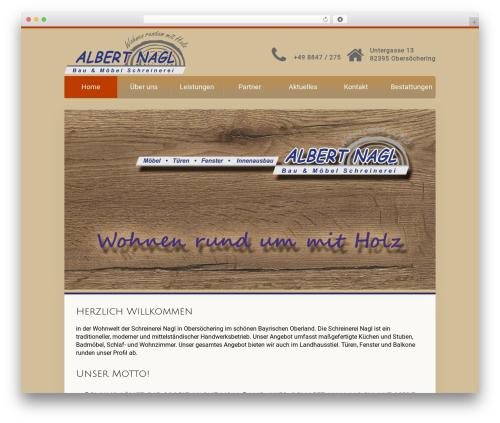 Unity WordPress website template - schreinerei-nagl.com