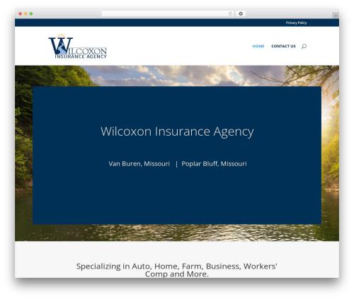 WP theme Divi - wilcoxoninsurance.com