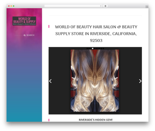 BeautySpot WordPress store theme - riversidehairsalon.com