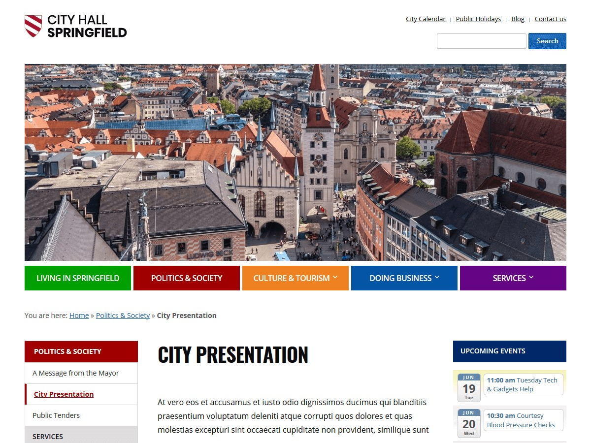 City Hall best WordPress template