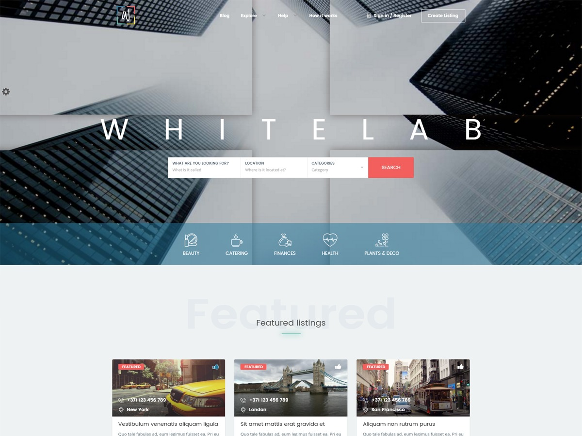 WhiteLab premium WordPress theme