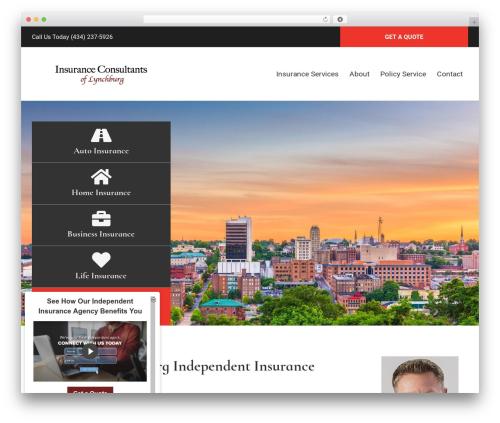 Best WordPress template BrightFire Stellar - insuringlynchburg.com