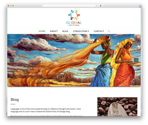 Best WordPress template Creativo Theme - globalvoiceofchange.com