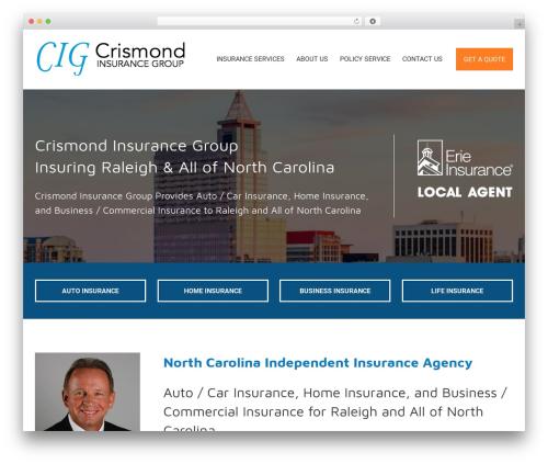 BrightFire Stellar business WordPress theme - insurewithcrismond.com