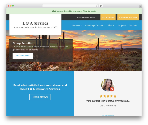 BrightFire Stellar company WordPress theme - lnaservices.com