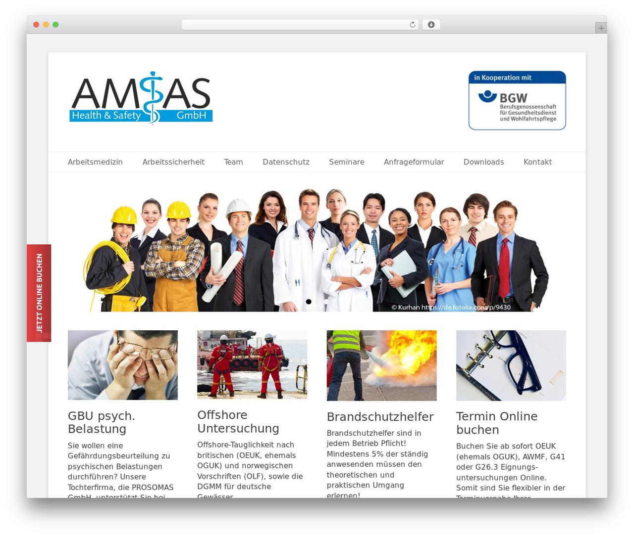 Catch Base Pro template WordPress - arbeitsmedizin-bremen.com