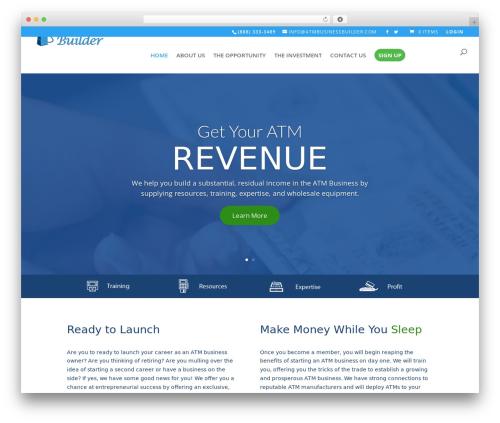 Divi business WordPress theme - atmbusinessbuilder.com
