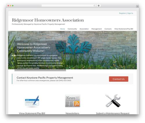 Spacious Pro best WordPress theme - ridgemoorhoa.com