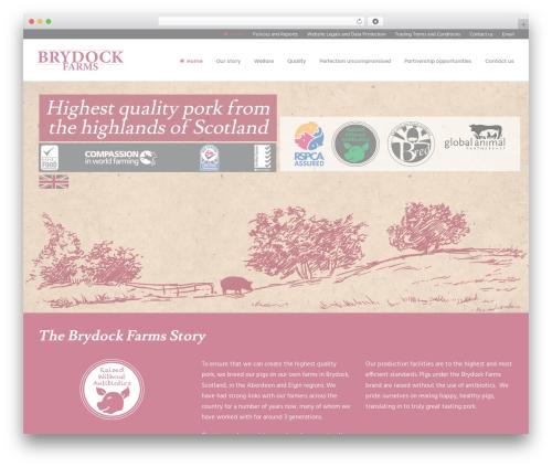 Uncode WordPress theme design - brydockfarms.com