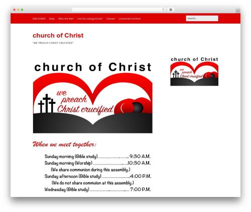 WordPress template Make - churchofchristmiranda.com