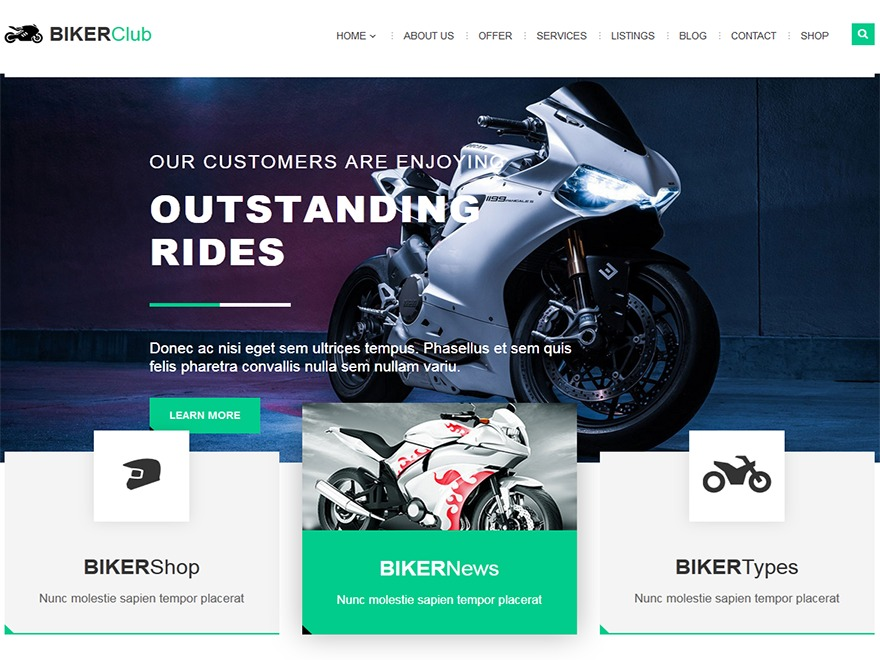 Bikersclub WordPress blog template