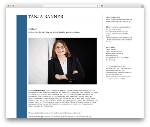 blog.txt WordPress blog template - tanja-banner.de
