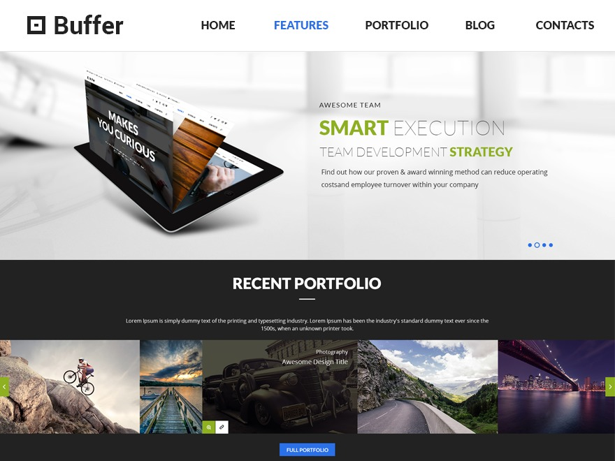 Buffer WordPress theme