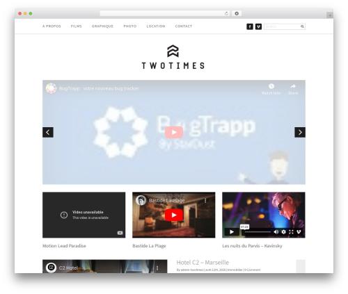 Creative Blog Responsive WordPress Theme WordPress blog template - twotimes.fr
